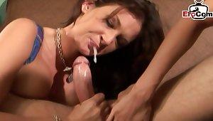 British babes make anal threesome ffm