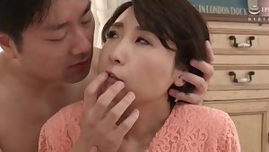 Licking leads to nice fucking with adorable Japanese Makise Rei