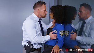 Boss bitch Misty Stone gets a mouthful be useful to cum inhibit sex with Johnny Stronghold