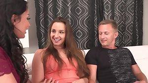 Erotic FFM threesome with stunning Anissa Kate & Amirah Adara