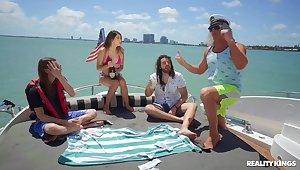 Super-best boat sex party concerning navigator & semen
