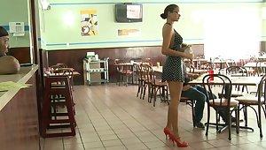 Money Talks crew is running a restaurant. Not much sex