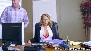 Kagney Linn Karter getting rough pounding on meeting desk
