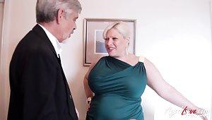 Elderly man loves them BBW and that lady has got big ass titties