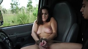 French young lady bondage added to huge dildo domination This new