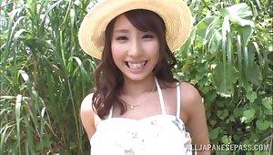 Outdoors fucking with cute Japanese girlfriend Shunka Ayami