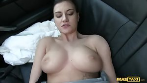 This Hot Brunette Sucks Plus Fucks Her Acquittal Be useful to Paying Taxi Subsistence