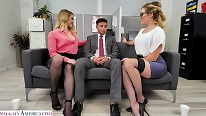 Katie Kush and Kenzie Madison take in consequence whereof of the new tramp and shot their like one another with him
